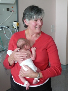 Proud Nanny with a new Grandchild