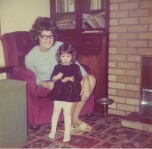 Amy & Mum 1977
